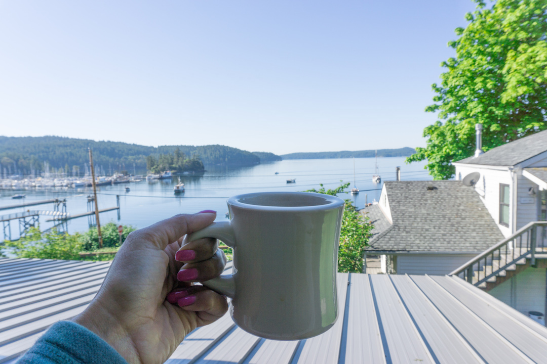 Coffee with a view Orcas Island
