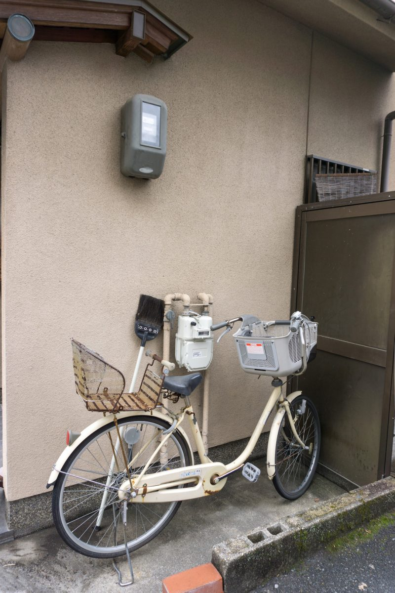 Bicycle with a baby basket in Kyoto