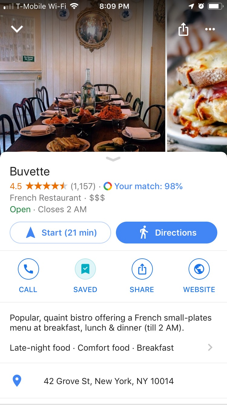 Google Maps Match Suggestions