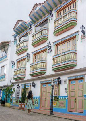 Colorful balconies in Guatape