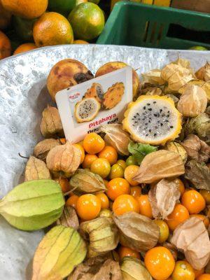 Pithaya fruits at Minorista Market Medellin