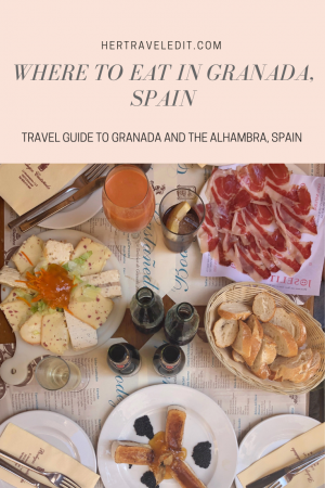A Travel Guide to Granada, Spain including the best places to eat