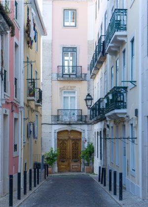 Pretty Alley in Lisbon
