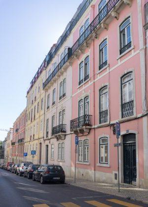 Pastel Houses in Lisbon