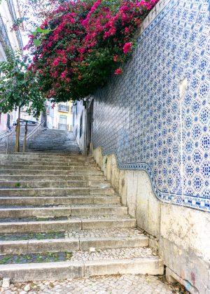 Tiled walls in Lisbon