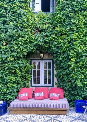 Garden of the York House Hotel in Lisbon