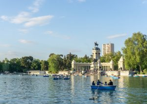 Retiro Park in Madrid