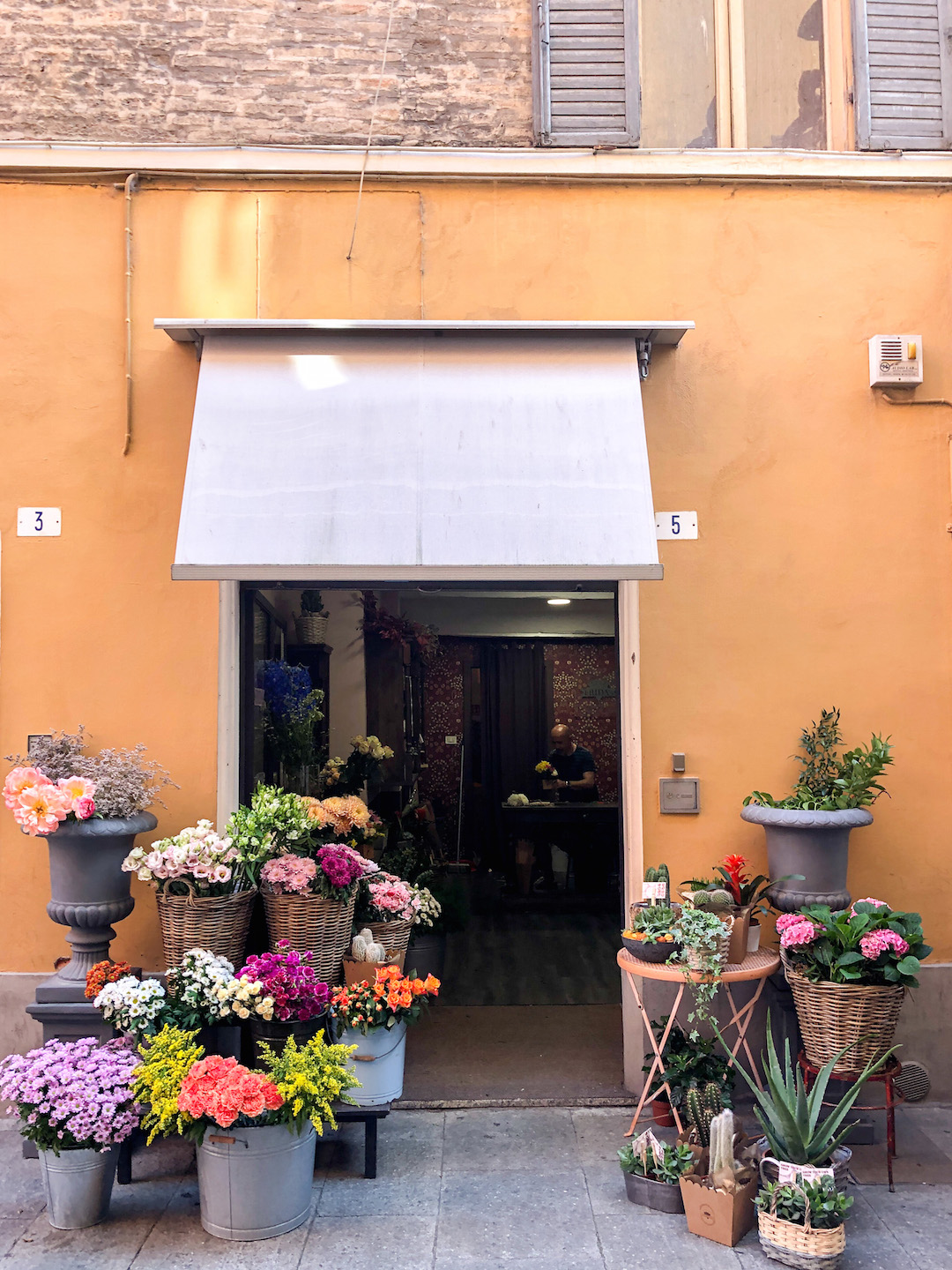 A Flower Shop in Modena, Italy