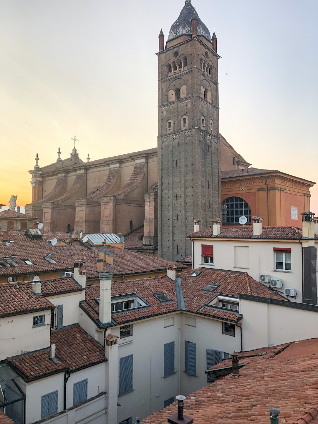 View of Bologna from the Casa Faccioli Balcony at Sunset