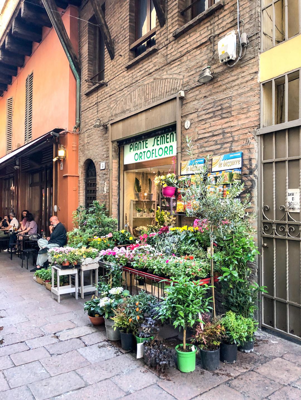 Pretty Flower Shop in Bologna