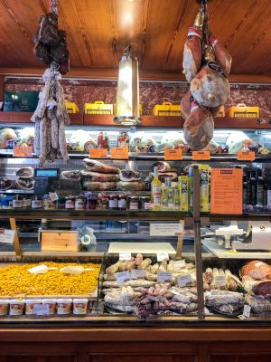 Food market in Bologna