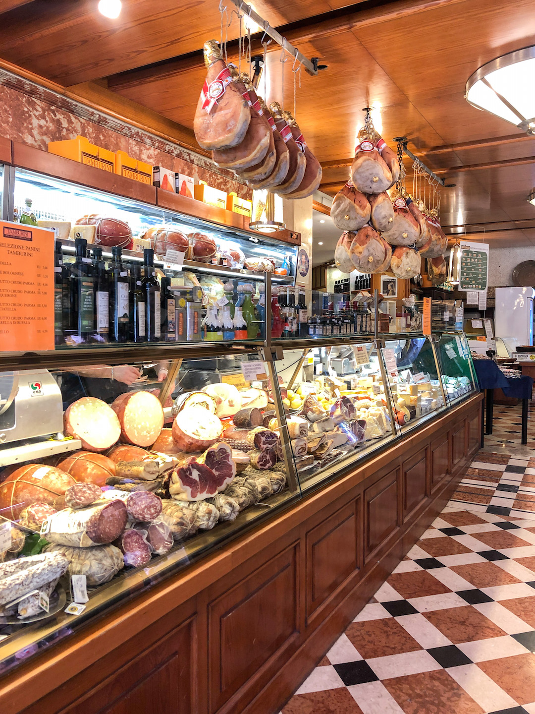 Meat and Cheese shop in Bologna