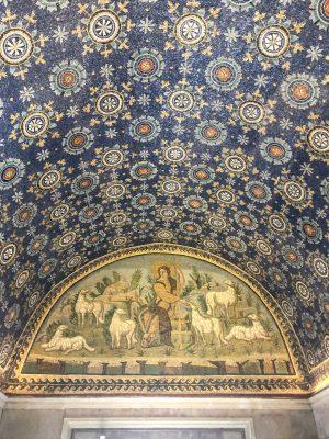 Murals at the Mausoleo di Galla Placidia in Ravenna