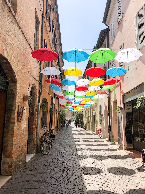 Colorful Umbrellas in Ravenna