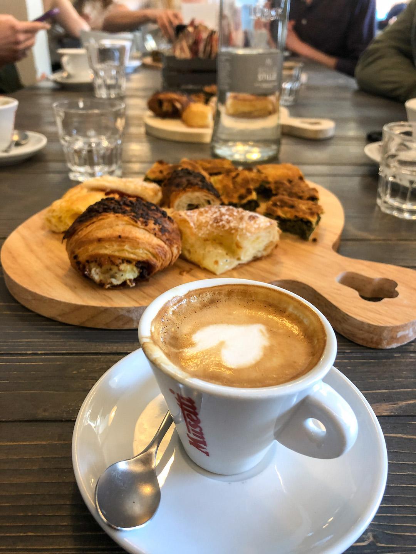 Breakfast with Erbazzone Reggiano in Reggio Emilia
