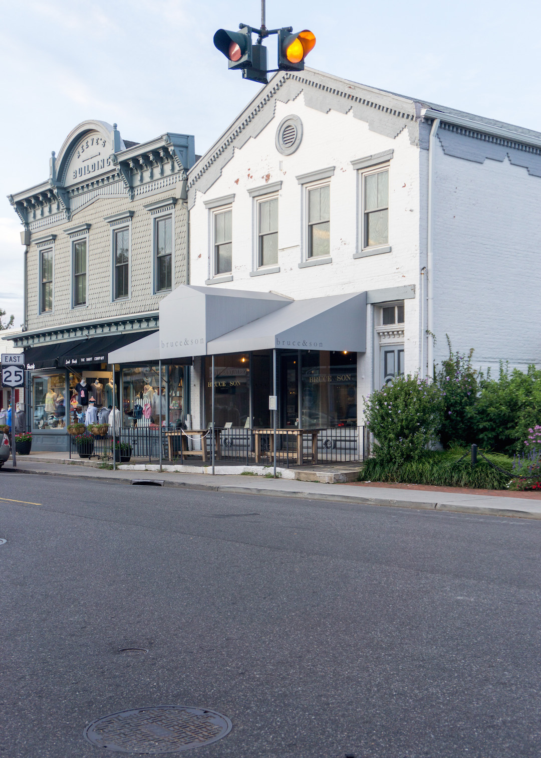 Street of Greenport - Bruce and Son Restaurant