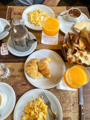 Breakfast at La Poesia Cafe, Buenos Aires