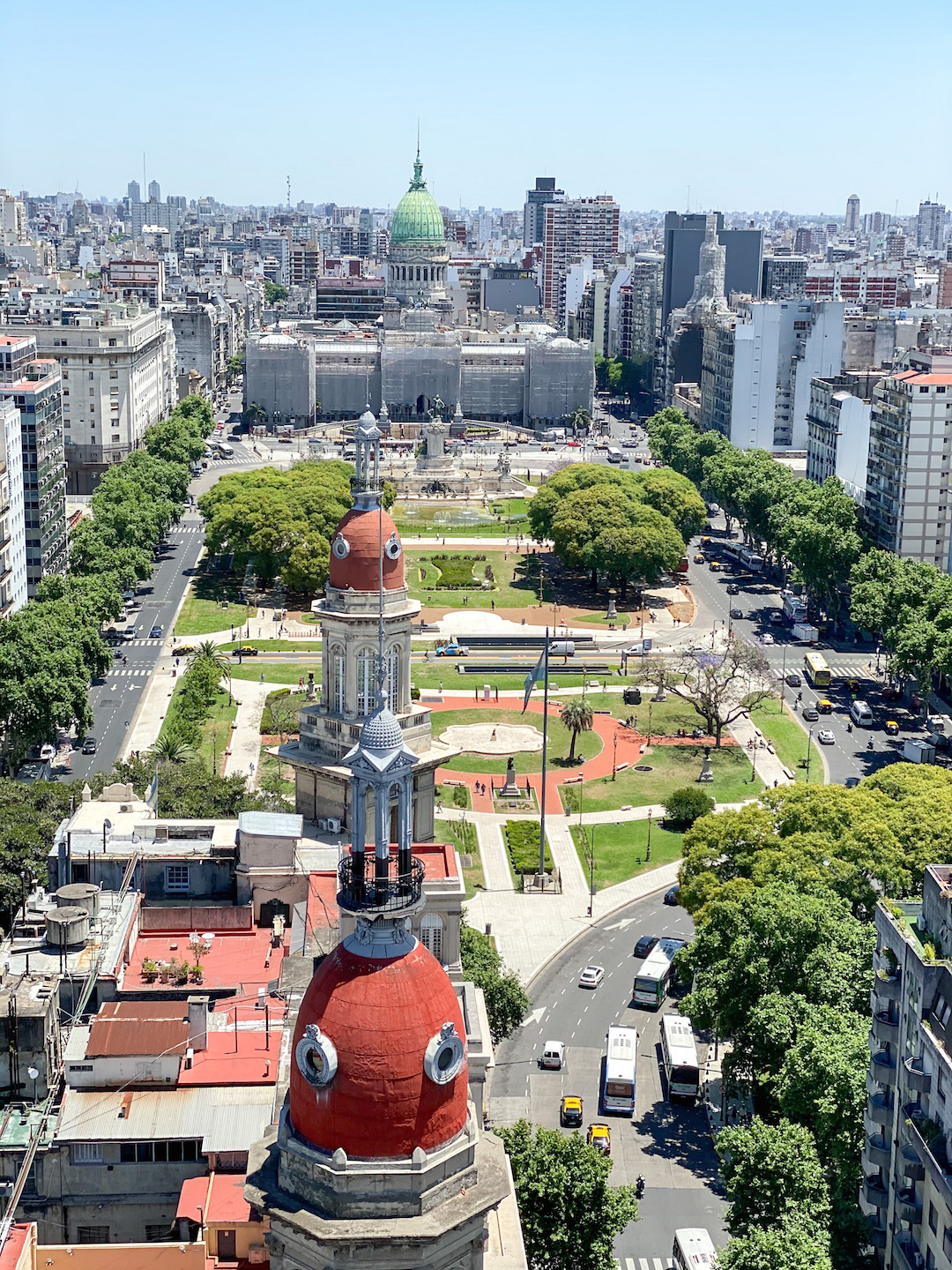 View from Palacio Barolo in Buenos Aires