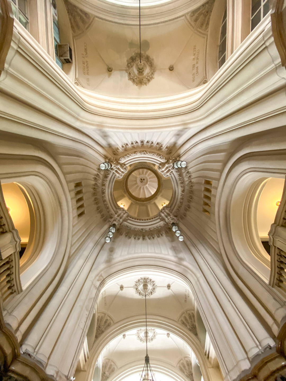 Ceiling in Palacio Barolo in Buenos Aires
