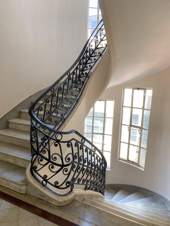 Staircase in Palacio Barolo in Buenos Aires
