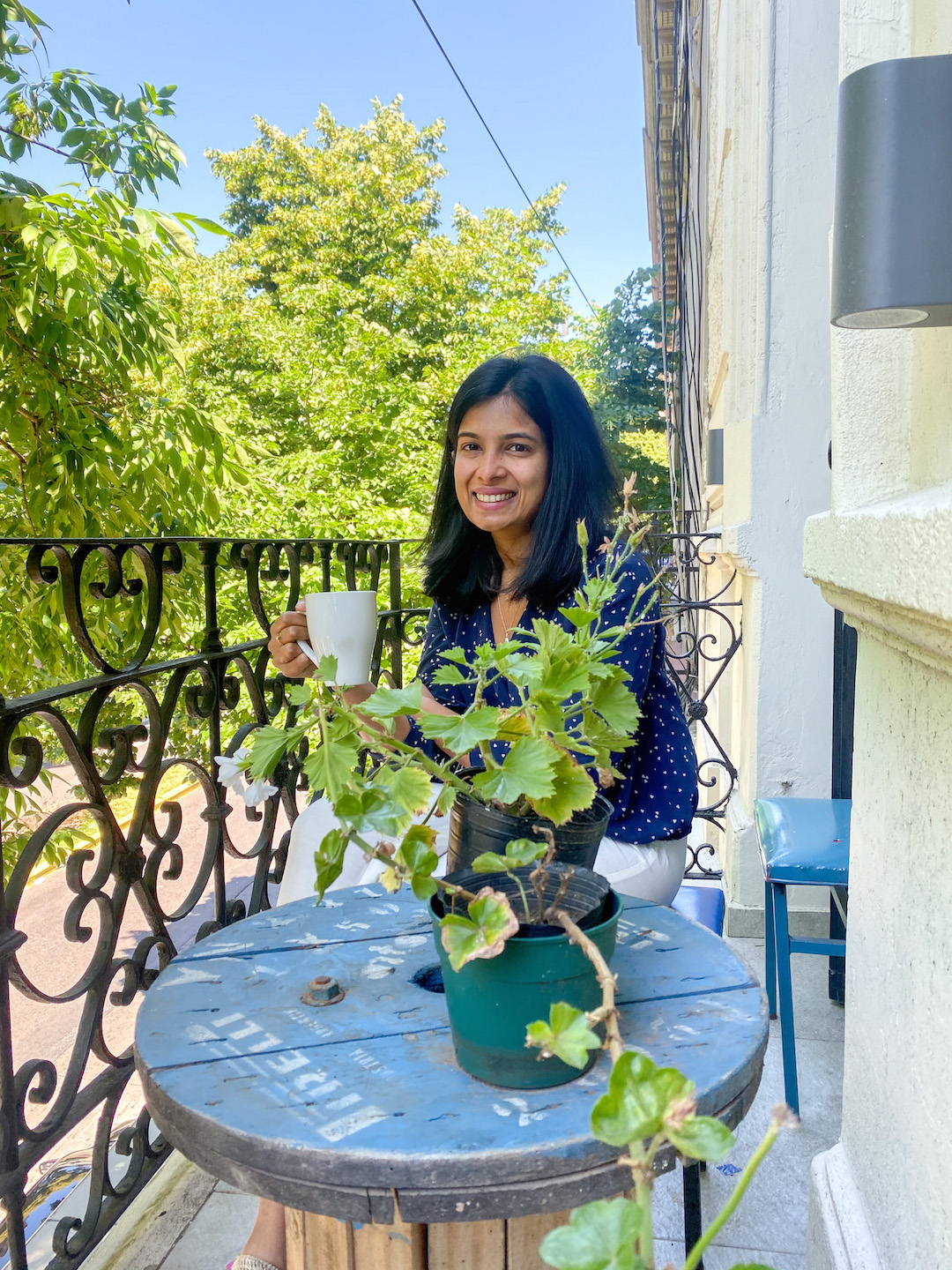 Tea on the balcony in San Telmo, Buenos Aires