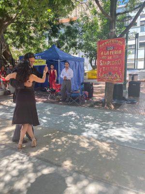 Tango at San Telmo Market in Buenos Aires