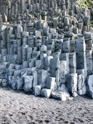 Granite Columns in Reynisfjara