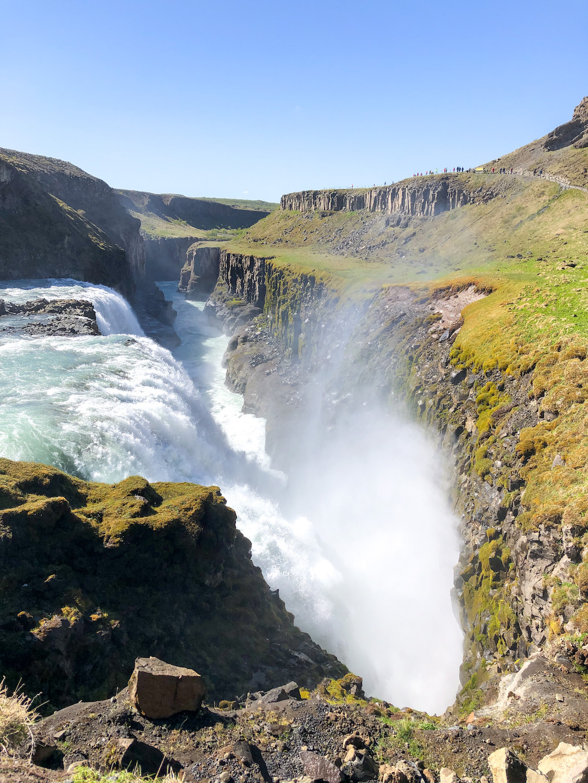 Force of the Gullfoss Waterfall