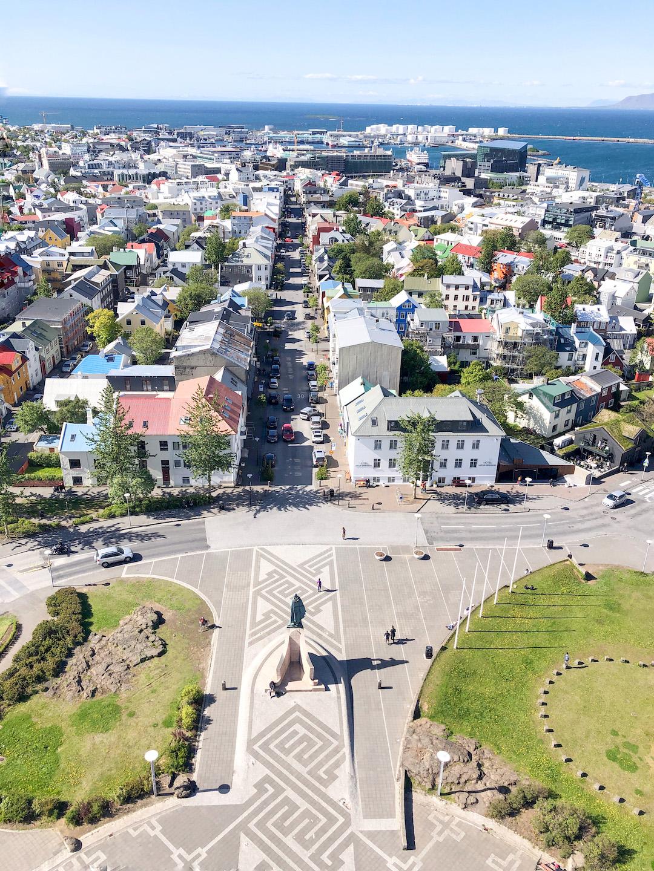Views from Hallgrimskirkja in Reykjavik