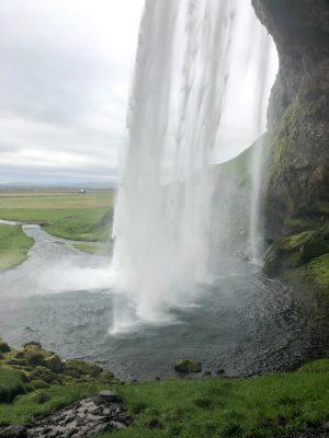 Inside Seljalandsfoss, Iceland