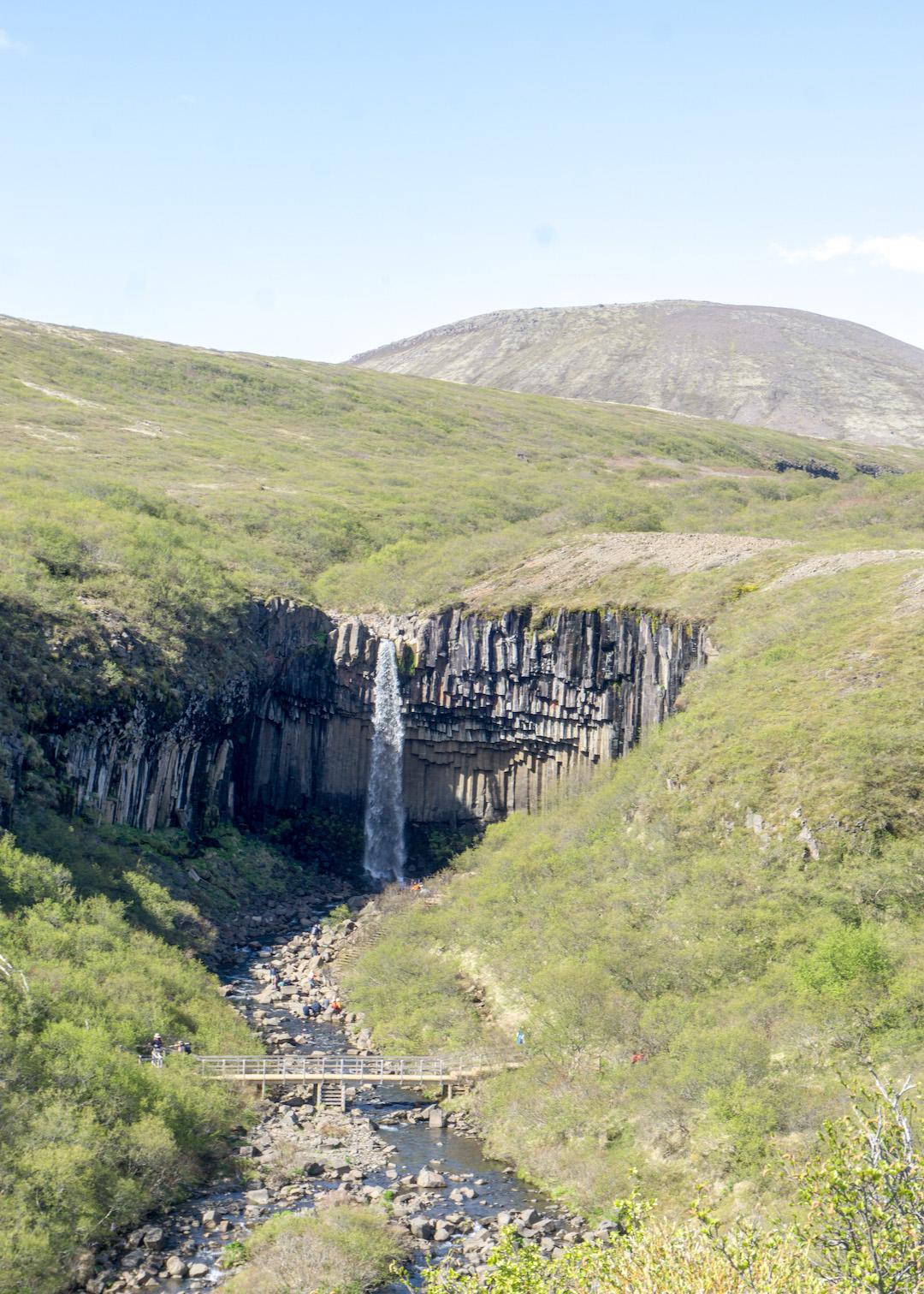 Hike to Svartifoss Waterfall
