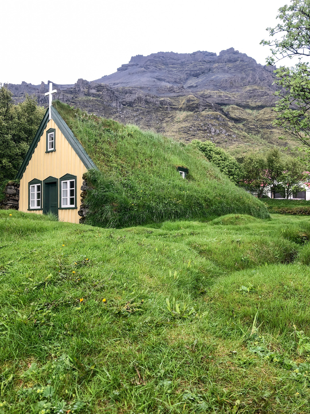 A Thatched Church in Iceland