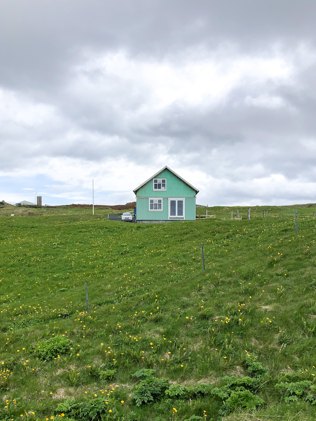 A house on Westman Islands in Iceland