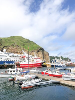 The harbor at Westman Islands in Iceland