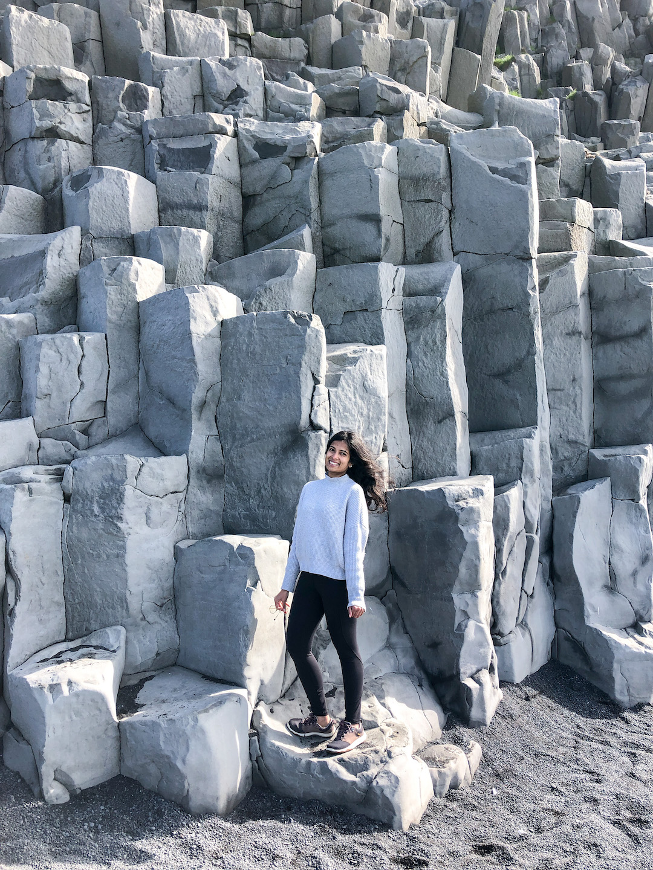 Her Travel Edit at Reynisfjara, Iceland