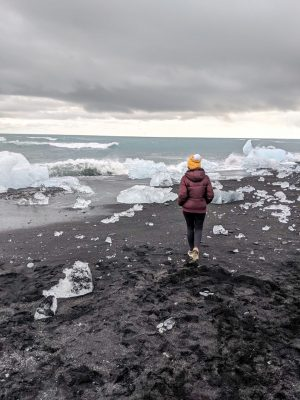 Her Travel Edit at Diamond Beach, Iceland