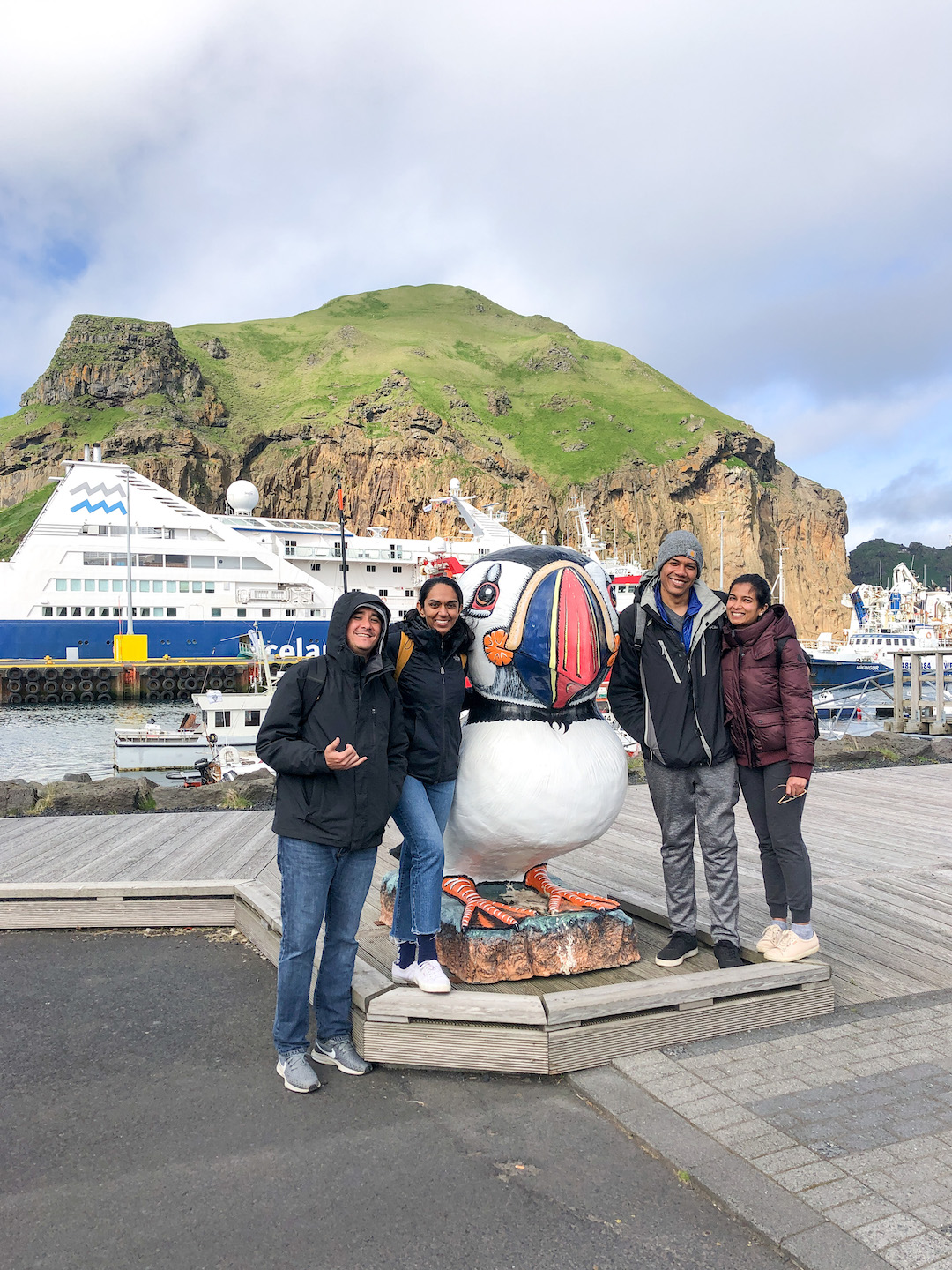 Her Travel Edit and friends at Westman Islands in Iceland